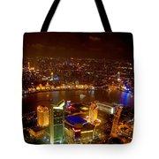 China Shanghai At Night  Tote Bag