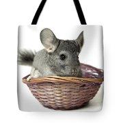 Chinchilla In A Straw Basket  Tote Bag