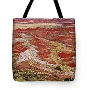 Chinde Point In Painted Desert In Petrified Forest National Park-arizona Tote Bag