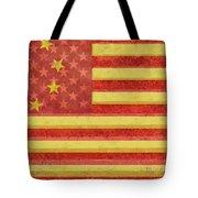 Chinese American Flag Blend Tote Bag