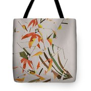 Chinese Brush Painting Mash Up Tote Bag