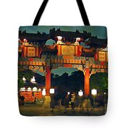 Chinese Entrance Arch Tote Bag