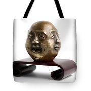 Chinese Four Faced Figure Tote Bag