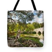 Chinese Garden Bridge Tote Bag