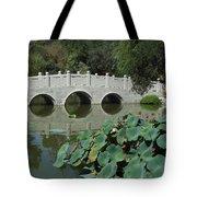 Chinese Garden Scene Tote Bag