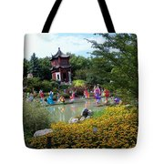 Chinese Garden With Gazebo Tote Bag