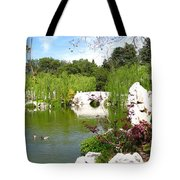 Chinese Gardens Tote Bag by Bedros Awak