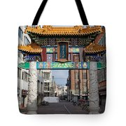 Chinese Gate To The Chinatown  Tote Bag