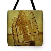 Chinese Junk Boat Tote Bag