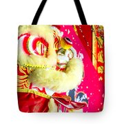 Chinese Lion Head Tote Bag