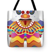 Chinese New Year Lion Dance Illustration Tote Bag