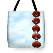 Chinese Red Lampion  Tote Bag