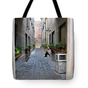 Chinese Restaurant Chef Has Quiet Moment Shanghai China Tote Bag