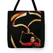 Chinese Ribbon Dancer Yellow Ribbon Tote Bag