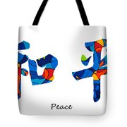 Chinese Symbol - Peace Sign 18 Tote Bag