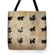 Chinese Zodiac Tote Bag by Delphimages Photo Creations