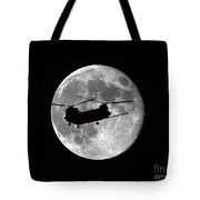 Chinook Moon B And W Tote Bag