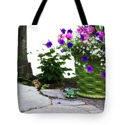 Chipmunk And Flowers Tote Bag