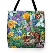 Chipmunk Garden Tote Bag