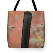 Chipmunk On Fence Post Tote Bag
