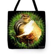 Chipmunk Saying Grace Tote Bag