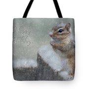 Chippy Christmas Card Tote Bag