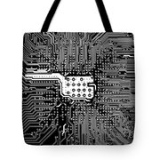 Chipset Black And White Tote Bag