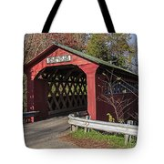 Chiselville Covered Bridge Tote Bag by Edward Fielding