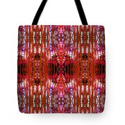 Chive Abstract Red Tote Bag