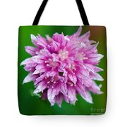 Chive Flower Tote Bag