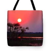 Chobe River Sunset Tote Bag