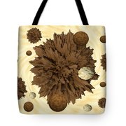 Chocolate Asteroids Tote Bag
