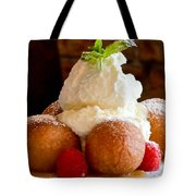 Chocolate Beignet Dessert Tote Bag