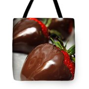 Chocolate Covered Strawberries Tote Bag