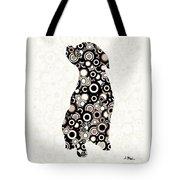Chocolate Lab - Animal Art Tote Bag