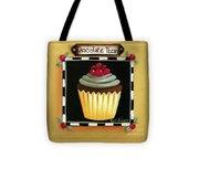 Chocolate Pecan Cupcake Tote Bag
