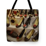 Chocolate Shoes In Milan Tote Bag