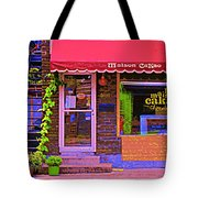 Chocolate Shop La Maison  Cakao Chocolaterie Boulangerie Patisserie Rue Fabre Montreal  Cafe Scene  Tote Bag