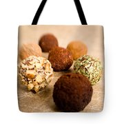 Chocolate Truffles On Gold Tote Bag
