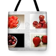 Choice Of Fruit 4 X 4 Collage 1 - Fruit Market Tote Bag
