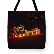 Choo Choo Train In Lights Tote Bag