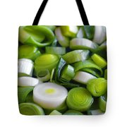 Chopped Scallions Tote Bag