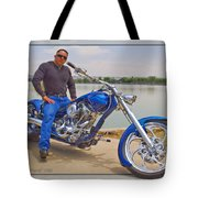 Chopper Motorcycle Tote Bag
