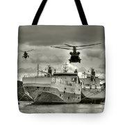 Choppers N Ships  Tote Bag