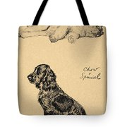 Chow And Spaniel, 1930, Illustrations Tote Bag by Cecil Charles Windsor Aldin