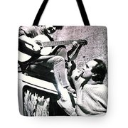 Chris And Hans On One Of Their Worldtravels  Tote Bag
