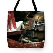 Chris Craft With Johnson Motor Tote Bag