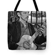 Chris Craig - New Orleans Musician Bw Tote Bag