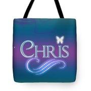 Chris Name Art Tote Bag