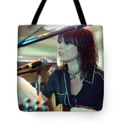 Chrissie Hynde Acoustic By Denise Dube Tote Bag